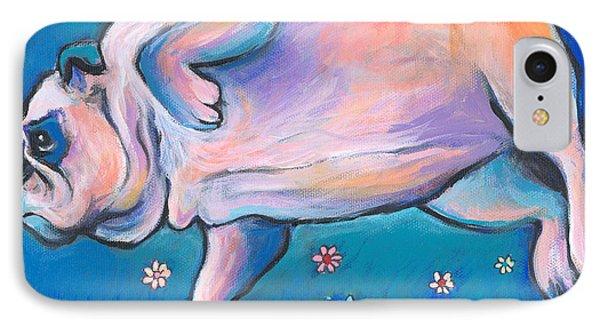 Bulldog Dreams IPhone Case by Svetlana Novikova