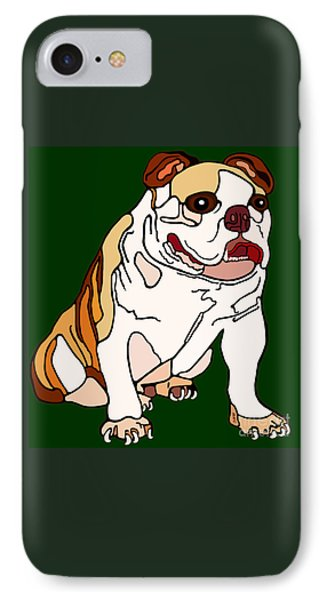 Bulldog Phone Case by Marian Cates