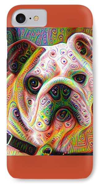 Bulldog Surreal Deep Dream Image IPhone Case