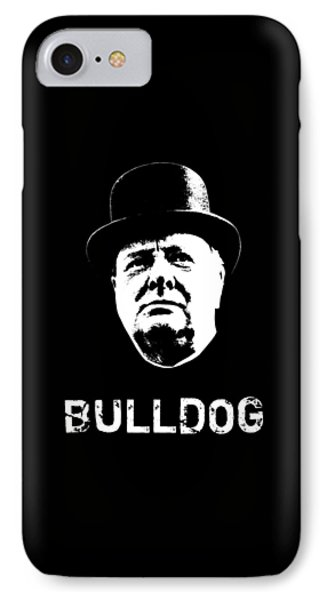 Bulldog - Winston Churchill IPhone Case by War Is Hell Store