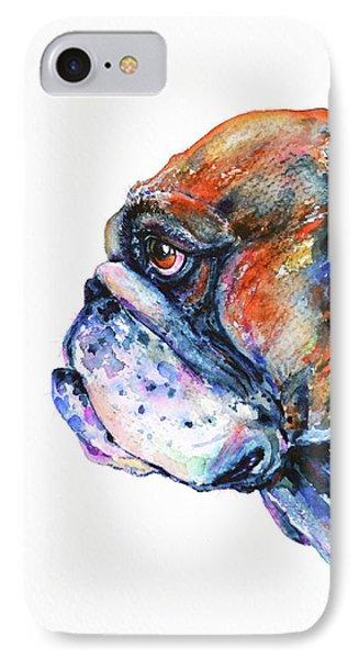 IPhone Case featuring the painting Bulldog by Zaira Dzhaubaeva