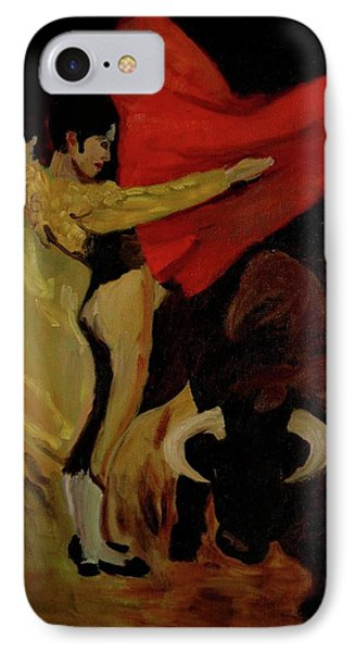 IPhone Case featuring the painting Bullfighter By Mary Krupa by Bernadette Krupa