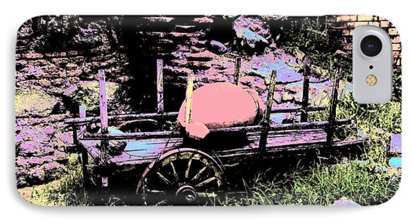 Bullock-cart IPhone Case by Lali Kacharava