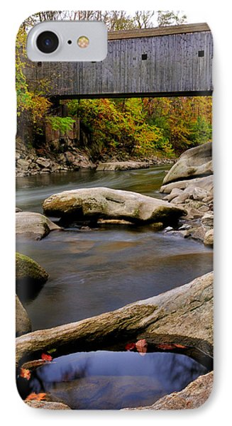 Bulls Bridge - Autumn Scene Phone Case by Thomas Schoeller