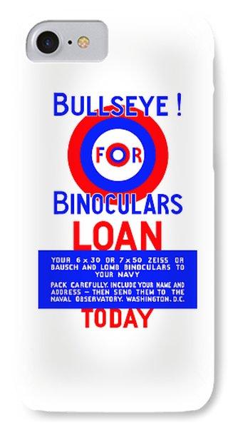 Bullseye For Binoculars Phone Case by War Is Hell Store