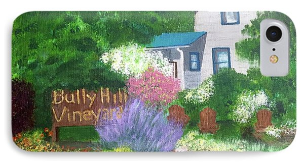 IPhone Case featuring the painting Bully Hill Vineyard by Cynthia Morgan