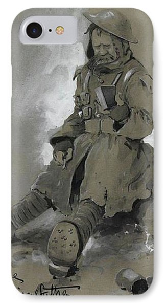 Bully. Wwi Drawing IPhone Case by Bruce Bairnsfather