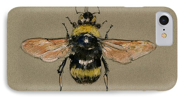 Bumble Bee Art Wall IPhone Case by Juan  Bosco