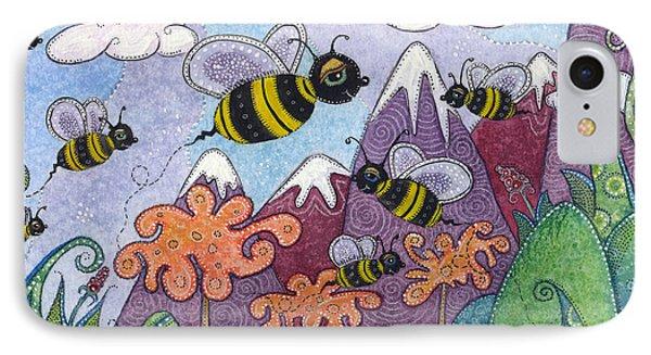 Bumble Bee Buzz IPhone Case