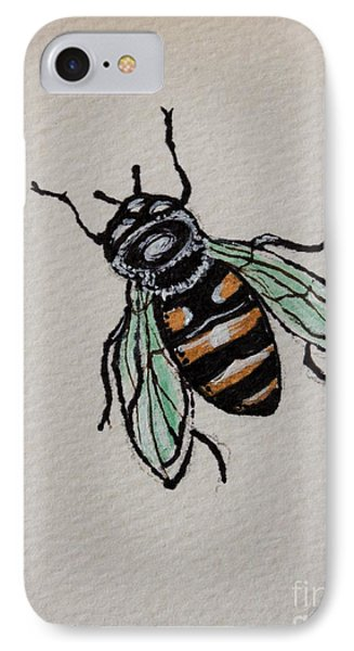 IPhone Case featuring the painting Bumble Bee by Elizabeth Robinette Tyndall