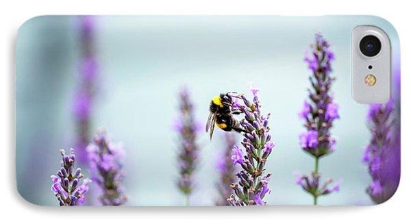 Honeybee iPhone 7 Case - Bumblebee And Lavender by Nailia Schwarz