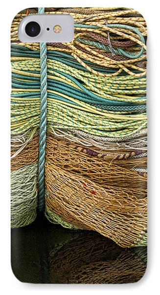 Bundle Of Fishing Nets And Ropes Phone Case by Carol Leigh