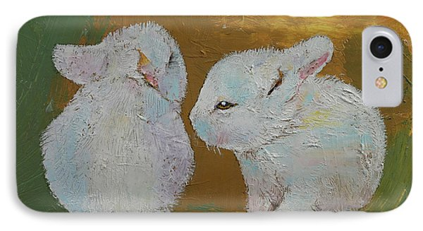 Baby Rabbits IPhone Case by Michael Creese
