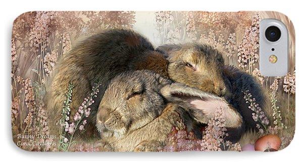 Bunny Dreams Phone Case by Carol Cavalaris