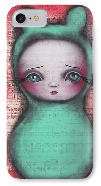 Bunny Girl IPhone Case by Abril Andrade Griffith