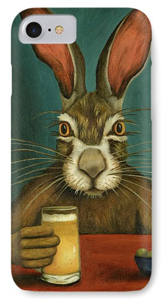 Bunny Hops IPhone Case by Leah Saulnier The Painting Maniac