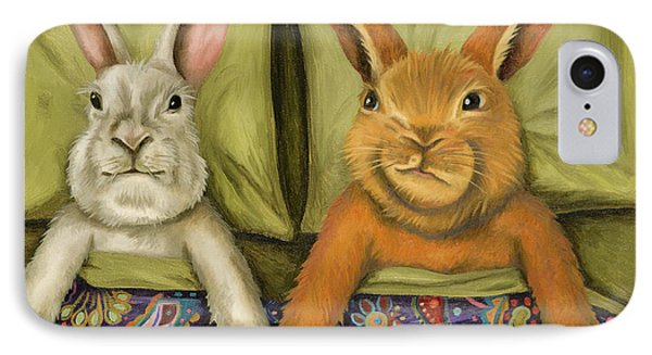 Bunny Love IPhone Case by Leah Saulnier The Painting Maniac