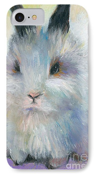 Bunny Rabbit Painting IPhone Case by Svetlana Novikova