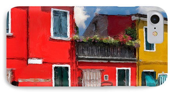 IPhone Case featuring the photograph Burano Color Houses. by Juan Carlos Ferro Duque