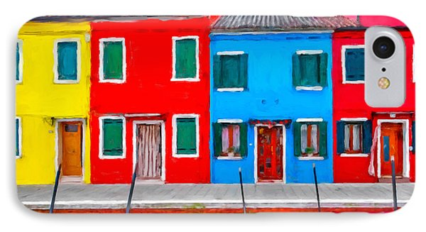 IPhone Case featuring the photograph Burano Colorful Houses by Juan Carlos Ferro Duque