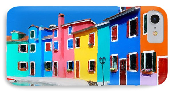 IPhone Case featuring the photograph Burano Houses.  by Juan Carlos Ferro Duque