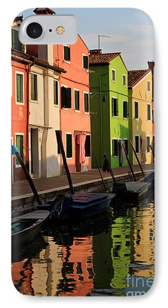 IPhone Case featuring the photograph Burano Reflections by Dennis Hedberg
