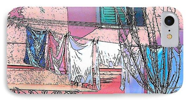 Burano Washing Day IPhone Case by Jan Matson