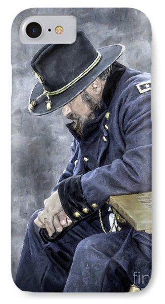 Burden Of War Civil War Union General IPhone Case by Randy Steele