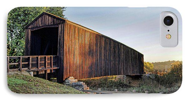 IPhone Case featuring the photograph Burfordville Covered Bridge by Cricket Hackmann