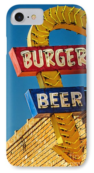 Burgers And Beer Phone Case by Charles Dobbs