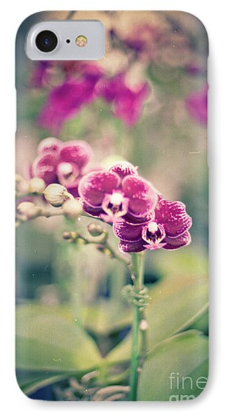 IPhone Case featuring the photograph Burgundy Orchids by Ana V Ramirez