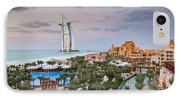 Burj Al Arab Hotel And Madinat Jumeirah Resort Phone Case by Jeremy Woodhouse