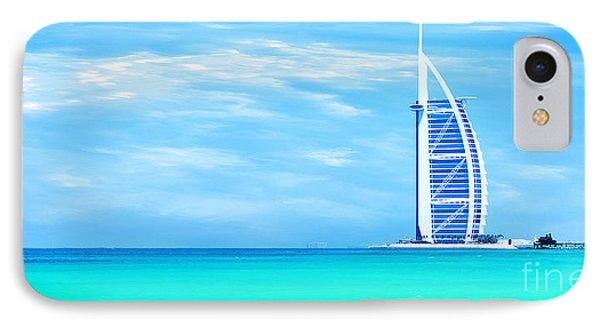 Burj Al Arab Hotel On Jumeirah Beach In Dubai IPhone Case