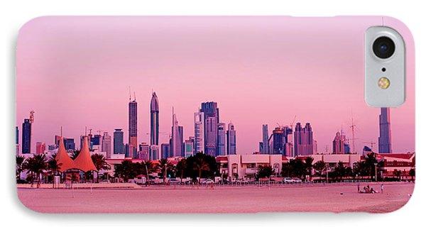 Burj Khalifa Previously Burj Dubai At Sunset Phone Case by Chris Smith