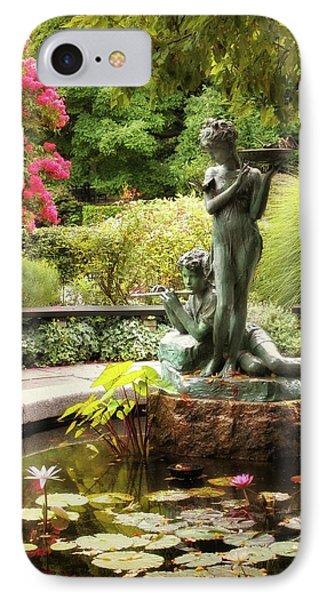 Burnett Fountain Garden IPhone 7 Case by Jessica Jenney