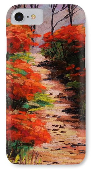Burning Bush Along The Lane Phone Case by John Williams