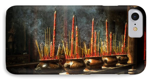 IPhone Case featuring the photograph Burning Incense by Lucinda Walter