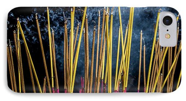 Burning Joss Sticks IPhone 7 Case by Hitendra SINKAR