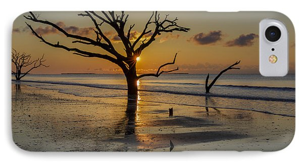 Burning Tree IPhone Case by Mike Lang