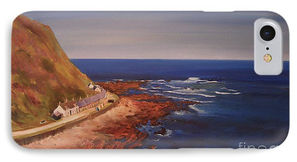 IPhone Case featuring the painting Burnmouth Scotland by Beatrice Cloake