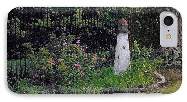 Burnside Garden Lighthouse IPhone Case by Cedric Hampton