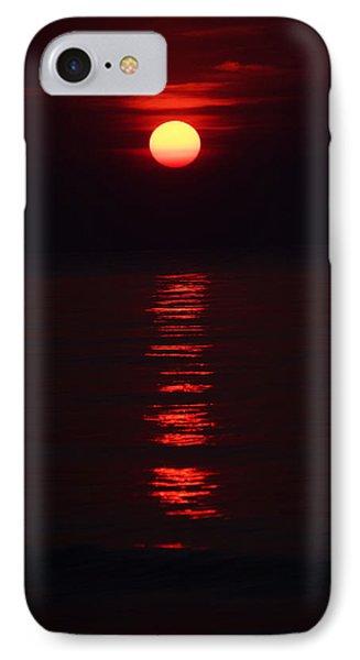 Burnt Orange Sunrise IPhone Case