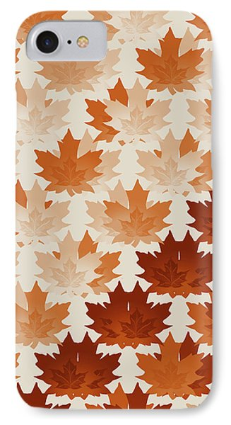 Burnt Sienna Autumn Leaves IPhone Case by Methune Hively