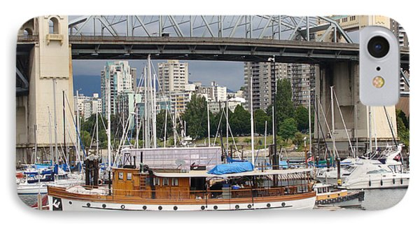 IPhone Case featuring the painting Burrard Street Bridge, Vancouver by Rod Jellison