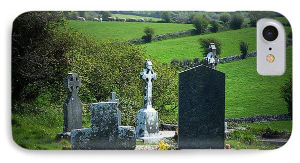 Burren Crosses County Clare Ireland Phone Case by Teresa Mucha