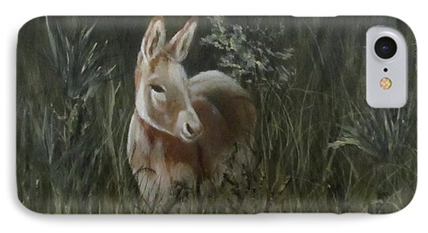 IPhone Case featuring the painting Burro In The Wild by Roseann Gilmore