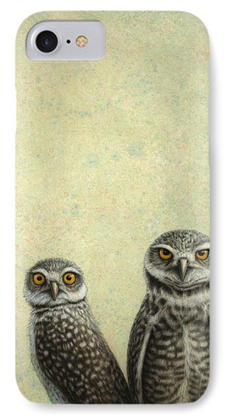 Burrowing Owls Phone Case by James W Johnson