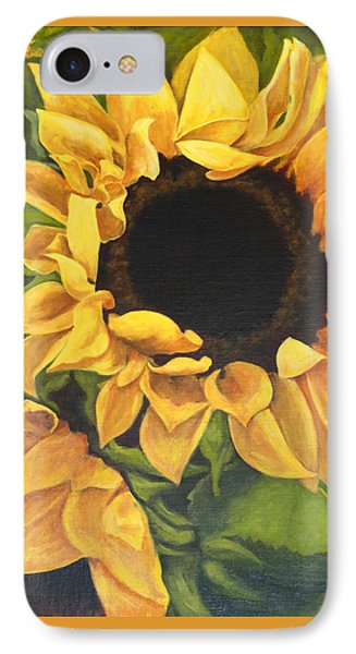 IPhone Case featuring the painting Burst Of Sunflowers by Sandra Nardone