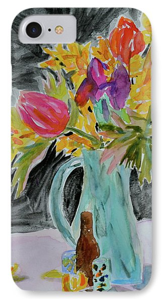 IPhone Case featuring the painting Bursting Bouquet by Beverley Harper Tinsley