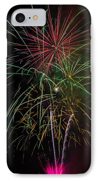 Bursting Fireworks IPhone Case by Garry Gay